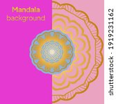 luxury mandala background with... | Shutterstock .eps vector #1919231162