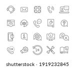 help and support line icon set. ...   Shutterstock .eps vector #1919232845