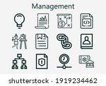 premium set of management  s ... | Shutterstock .eps vector #1919234462