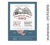 vintage 4th of july...   Shutterstock .eps vector #191923856