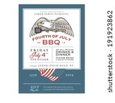 vintage 4th of july... | Shutterstock . vector #191923862