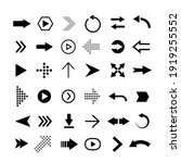 vector flat arrows set. clipart ...