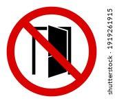 caution do not close the door... | Shutterstock .eps vector #1919261915