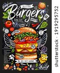 food poster  ad  fast food ... | Shutterstock .eps vector #1919295752