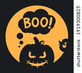 boo halloween design with scary ...   Shutterstock .eps vector #1919300825