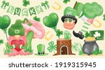 set of saint patrick's day by... | Shutterstock .eps vector #1919315945