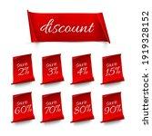 red discount labels set. sale... | Shutterstock .eps vector #1919328152