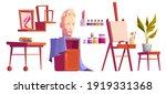 artist studio art stuff canvas... | Shutterstock .eps vector #1919331368