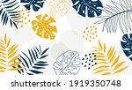 summer tropical leaves... | Shutterstock .eps vector #1919350748