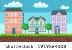 house surrounded by green... | Shutterstock .eps vector #1919364008