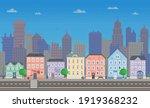 pixel art empty city vector... | Shutterstock .eps vector #1919368232