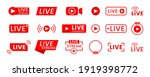 collection of live streaming...   Shutterstock .eps vector #1919398772