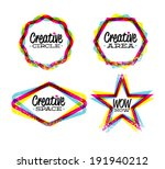 creative space  circle  star... | Shutterstock .eps vector #191940212