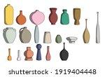 set of multicolored vases in...   Shutterstock .eps vector #1919404448