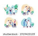 adult and children vaccination...   Shutterstock .eps vector #1919423135