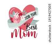 happy mothers day lettering...   Shutterstock .eps vector #1919427005