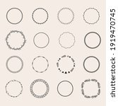 round frames in doodle style ... | Shutterstock .eps vector #1919470745