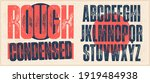 rough condensed font. works... | Shutterstock .eps vector #1919484938