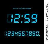 digital clock and number set ...   Shutterstock .eps vector #1919493782