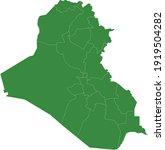 vector illustration of iraq map   Shutterstock .eps vector #1919504282