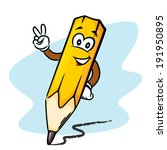 cheerful pencil with face and...   Shutterstock .eps vector #191950895