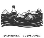 ocean pollution with garbage in ...   Shutterstock .eps vector #1919509988