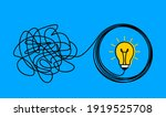 the confused concept of chaos... | Shutterstock .eps vector #1919525708