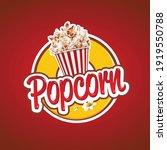 Popcorn Logo  Label  Symbol Or...