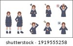 facial expression set for... | Shutterstock .eps vector #1919555258