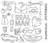 a vector set of men's things... | Shutterstock .eps vector #1919558642