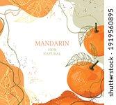 stylized mandarin on an... | Shutterstock .eps vector #1919560895