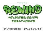 solid green driping graffiti... | Shutterstock .eps vector #1919564765