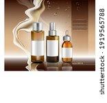 moisture oil bottles set vector ... | Shutterstock .eps vector #1919565788