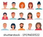 set of people avatars in flat...   Shutterstock .eps vector #1919603522