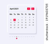ui calendar concept. gui for...