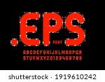 vector format style font with... | Shutterstock .eps vector #1919610242