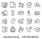 technology icons set. included... | Shutterstock .eps vector #1919618642