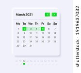 template for calendar with...