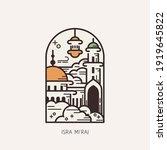 islam day of isra mi'raj ... | Shutterstock .eps vector #1919645822