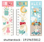 kids height chart with cute...   Shutterstock .eps vector #1919655812
