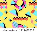 memphis seamless pattern....   Shutterstock .eps vector #1919672255
