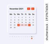november month calendar. ui...