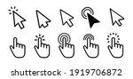 vector cursors icons click set   Shutterstock .eps vector #1919706872