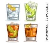 Set Of Short Drinks  4 Glasses...