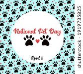 national pet day at april 11... | Shutterstock .eps vector #1919735825
