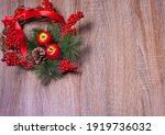 Bright Christmas Wreath On A...