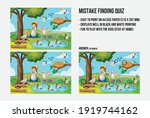 mistake finding quiz with... | Shutterstock .eps vector #1919744162
