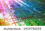 Iridescent Silicon Microchip...