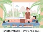 massage therapist practicing...   Shutterstock .eps vector #1919761568