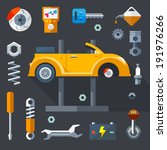 vector flat  icons and... | Shutterstock .eps vector #191976266